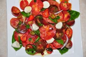 Heirloom Tomato Salad with Vino Cotto dressing