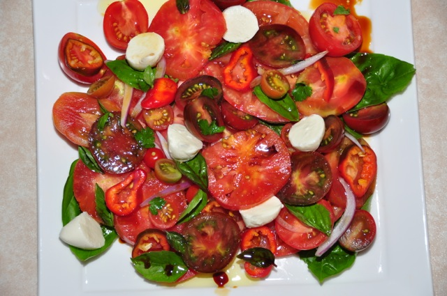 Heirloom Tomato Salad with Vino Cotto dressing