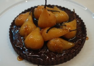 Chocolate & VinCotto Pear Frangiane Tart