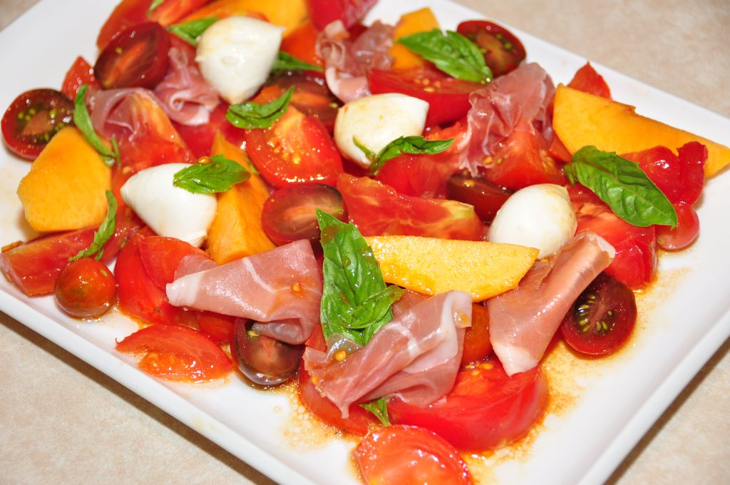 Tomato, Prosciutto and Peach Salad with Vino Cotto – The ...