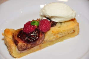 Fig and raspberry tart with Vino Cotto