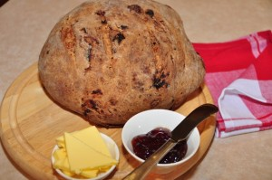 Hazelnut & Fig Vino Cotto Bread with jam