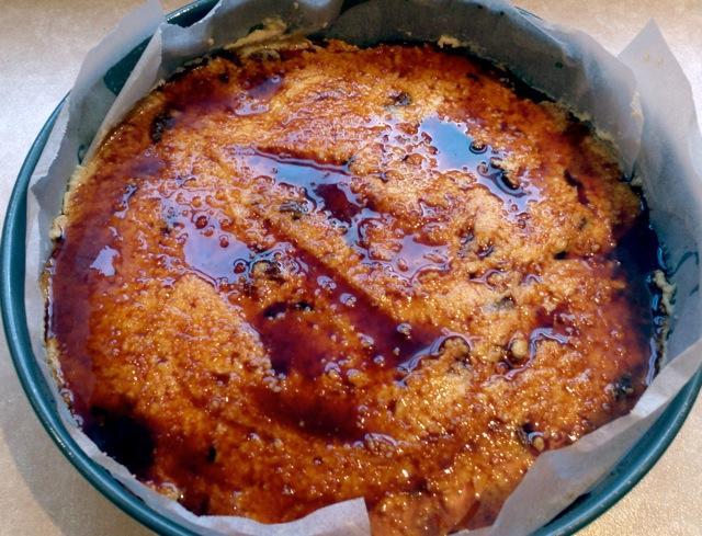 Warm Apple Polenta cake with Vino Cotto Syrup