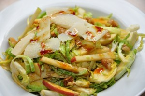 Shaved Brussels sprouts salad with vincotto dressing