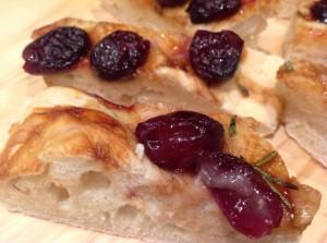 schiacciata with grapes vinocotto_sliced