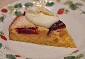 Vincotto Plums and Almond cake